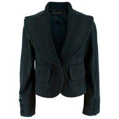 Donna Karan Wool Green Jacket - Size US 14
