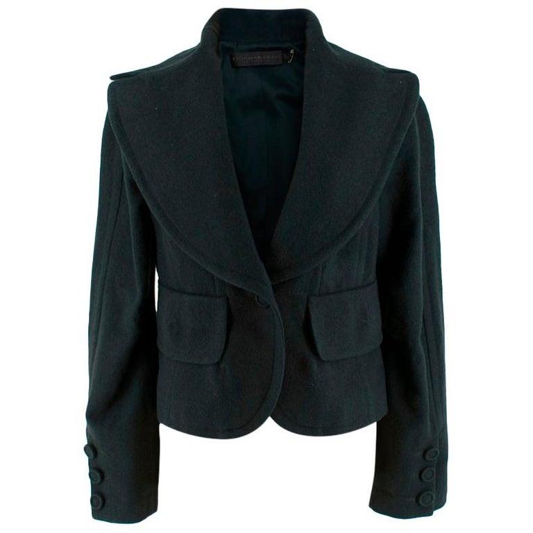 Donna Karan Wool Green Jacket - Size US 14 For Sale