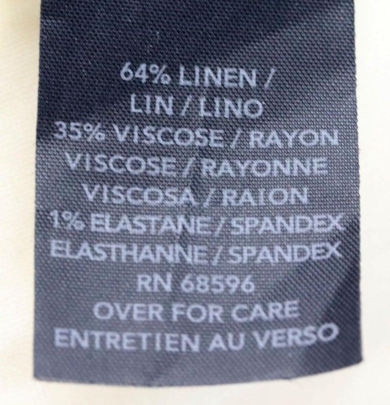 Donna Karen New York Stretch Linen Blend US 6 UK 10 For Sale 2