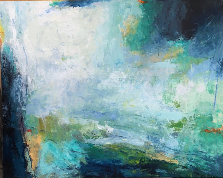 Donna McGinnis Abstract Painting - Jump Up