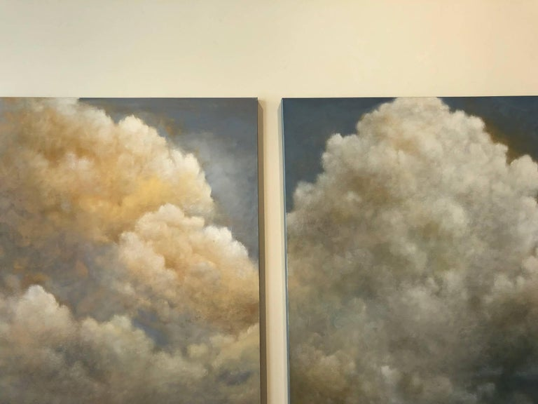 Out of the Blue (triptych) cloud study For Sale 5