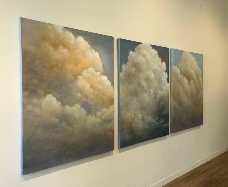 Out of the Blue (triptych) cloud study For Sale 6
