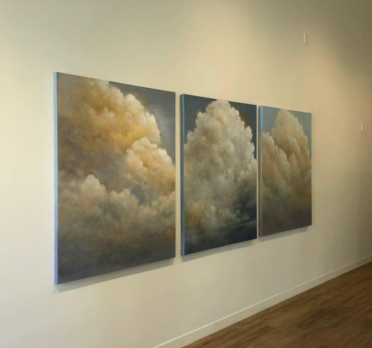 Out of the Blue (triptych) cloud study For Sale 8
