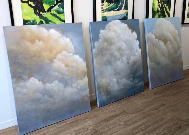 Out of the Blue (triptych) cloud study For Sale 7