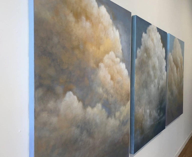 Out of the Blue (triptych) cloud study For Sale 2