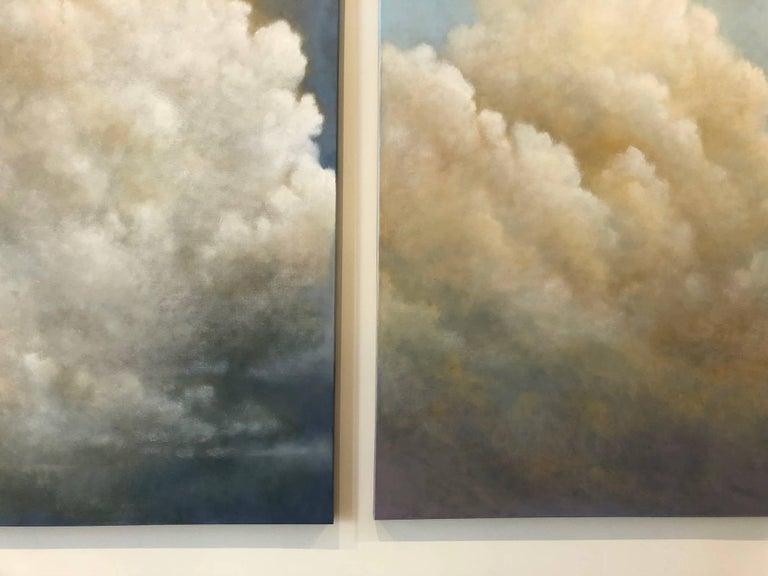 Out of the Blue (triptych) cloud study For Sale 3