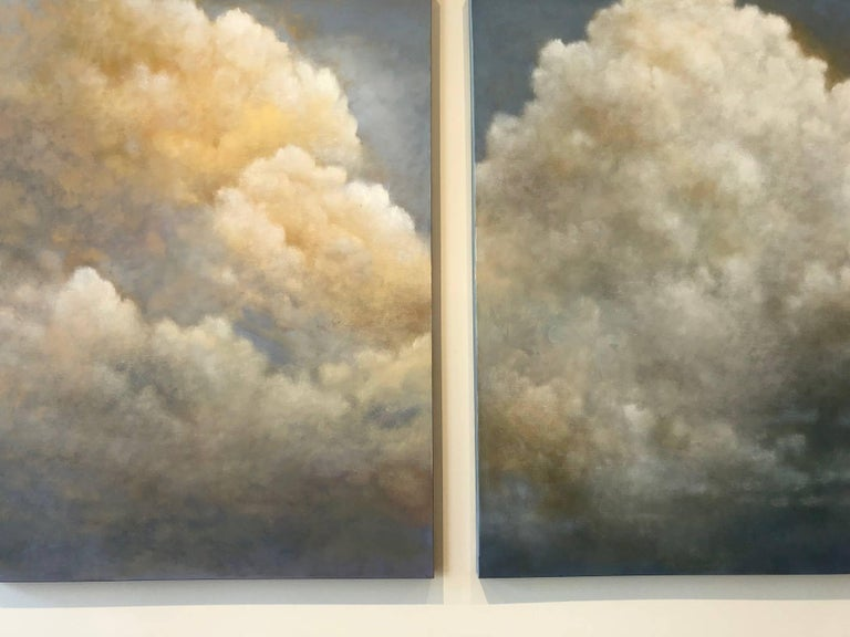 Out of the Blue (triptych) cloud study For Sale 4
