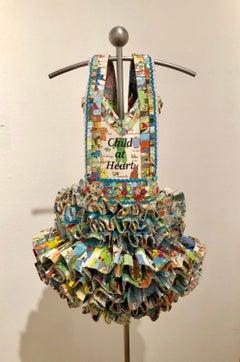 Dress Sculpture, vintage books, Child At Heart