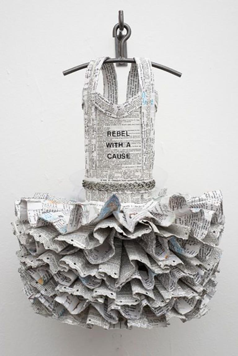 Rebel with a Cause - Sculpture by Donna Rosenthal