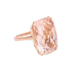 Donna Vock 18 Karat Pink Gold 31.47 Carat Morganite Ring