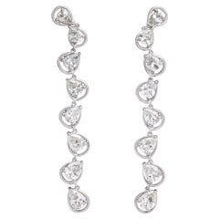 "Donna Vock Diamond ""Raindrop"" Earring in 18 Karat White Gold"