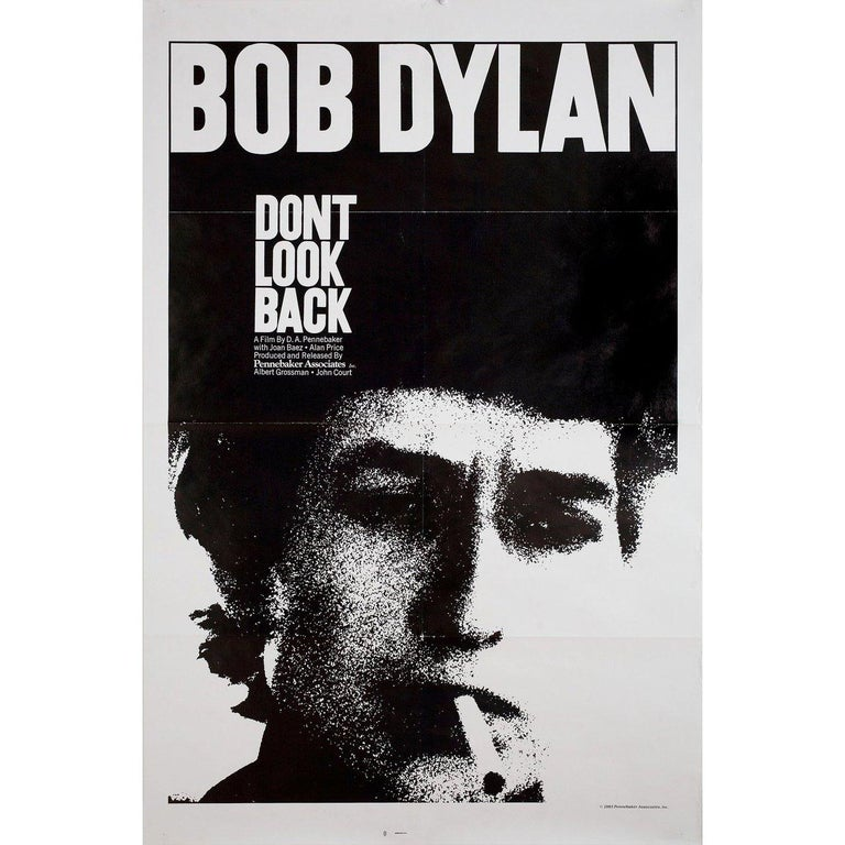Original 1983 re-release U.S. one sheet poster for the 1967 documentary film Don't Look Back directed by D.A. Pennebaker with Bob Dylan / Albert Grossman / Bob Neuwirth / Joan Baez. Very good-fine condition, folded. Many original posters were issued