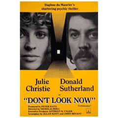 'Don't Look Now' R1970s British One Sheet Film Poster