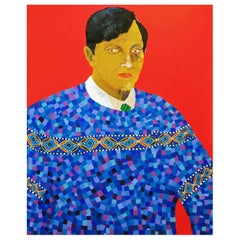 'Don't Sweat the Small Stuff' Portrait Painting by Alan Fears Pop Art