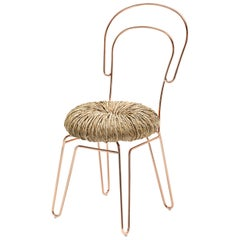 Donut Chair 'Set of 2' in Copper Finish by Alessandra Baldereschi & Mogg