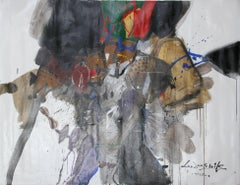 Large Abstract Painting by Doo Shik Lee