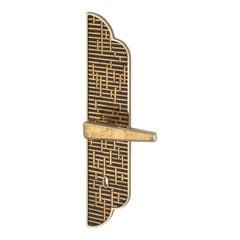 Door Handle Aluminum Plate Brass Handle Body Polished Chrome Champagne Vetrite