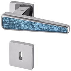 Door Handle Aluminum Plate Brass Handle Body Polished Chrome Finished Vetrite