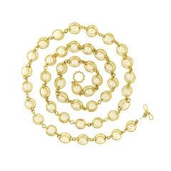 Doppio Smooth Pearls Necklace