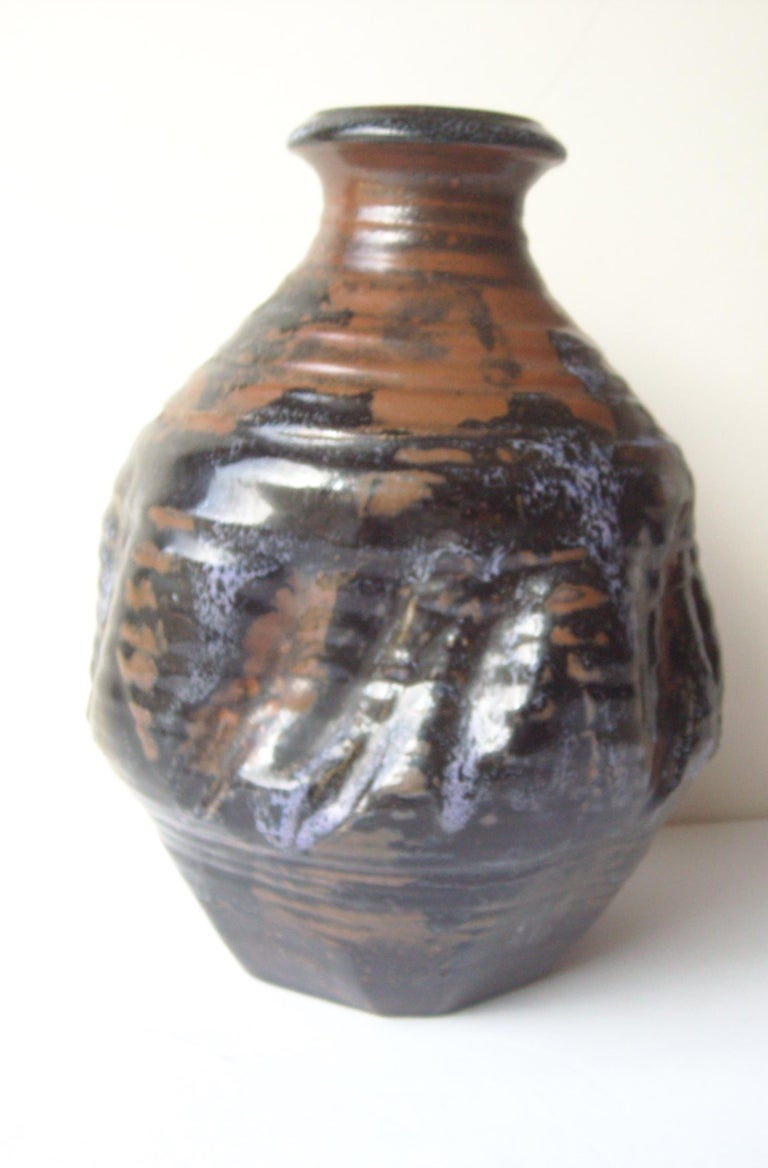 American Dora De Larios Pottery/Ceramic Early Large Vase, Signed For Sale