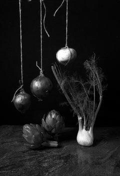 "Cebollas con alcachofas II. (B&W) From ""Bodegon"" Series"
