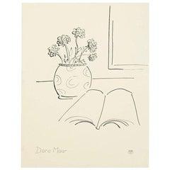 Dora Maar Hand Signed Drawing, circa 1960