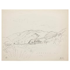 Dora Maar Hand Signed Pointillist Drawing, circa 1960