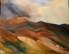 """""""Paysage du Luberon"""" France 1950  Oil  cm. 116 x 89 Shipping included"""