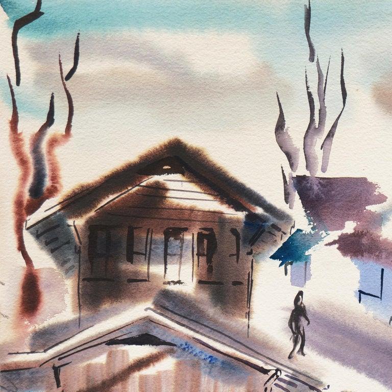 'Old Carmel Village', 1950's Woman Artist, San Francisco Bay Area, SFAA For Sale 1