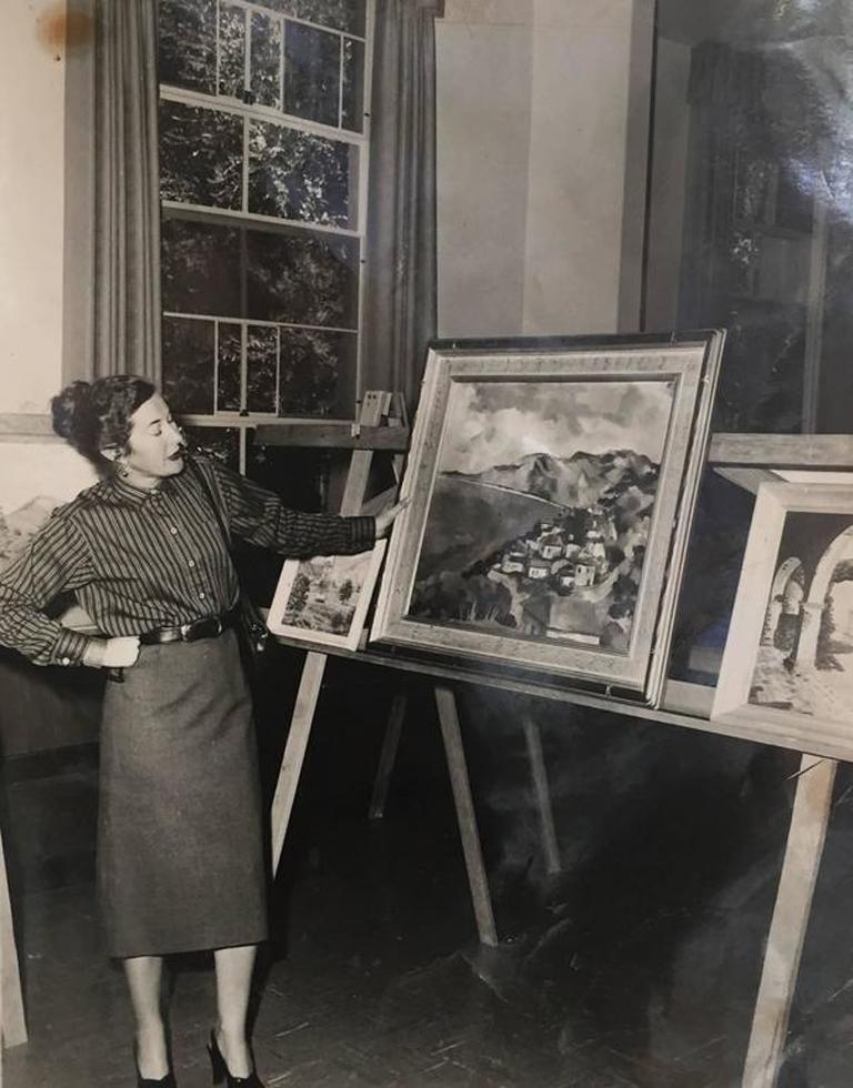 'Old Carmel Village', 1950's Woman Artist, San Francisco Bay Area, SFAA For Sale 4
