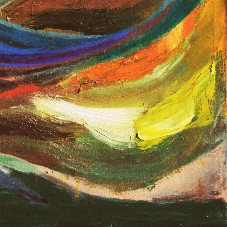 'Organic Abstract', 1950's Woman Artist, San Francisco Bay Area Abstraction - Painting by Dora Masters