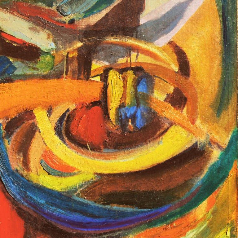 'Organic Abstract', 1950's Woman Artist, San Francisco Bay Area Abstraction For Sale 1