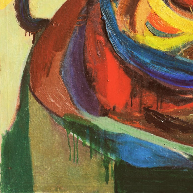 'Organic Abstract', 1950's Woman Artist, San Francisco Bay Area Abstraction For Sale 3