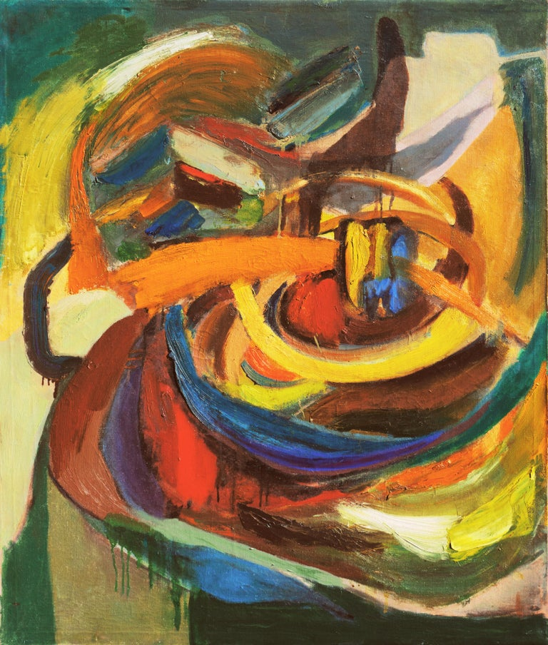 Dora Masters Abstract Painting - 'Organic Abstract', 1950's Woman Artist, San Francisco Bay Area Abstraction