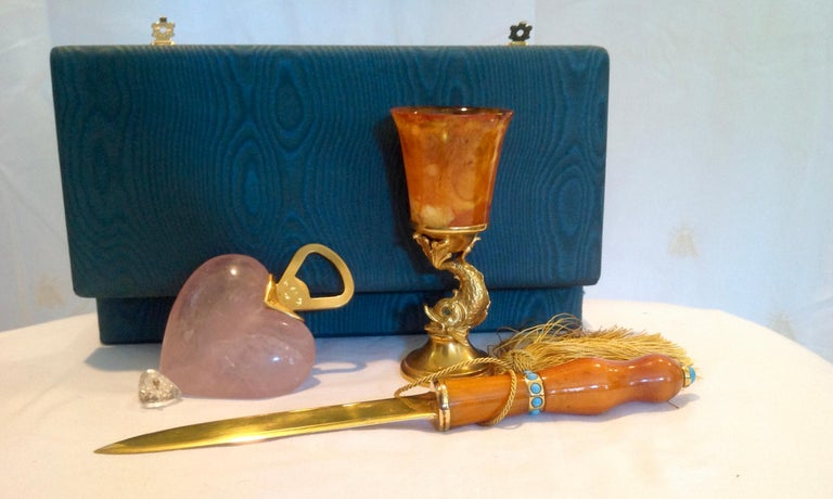 Doré Letter Opener and 2 Additional Accessories by Ira Von Furstenberg In Good Condition For Sale In West Palm Beach, FL