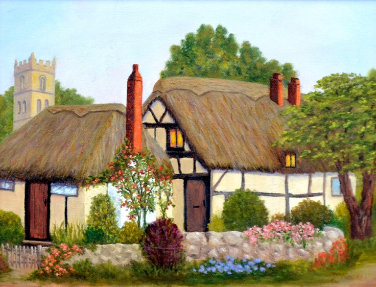 Countryside Cottage - Painting by Doreen Amaral