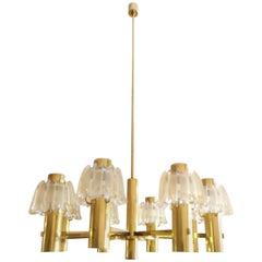 Doria Brass and Glass Chandelier