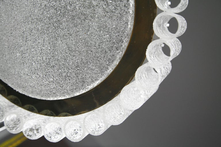 Doria Chandelier Tube Glass, 1960s In Good Condition For Sale In New York, NY