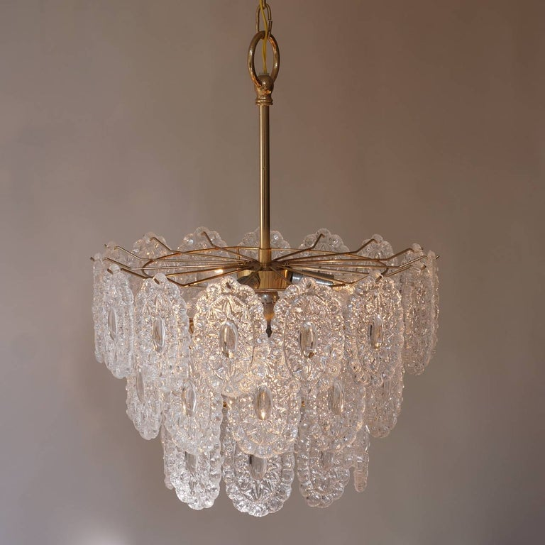 Two Doria Glass Chandeliers In Good Condition For Sale In Antwerp, BE