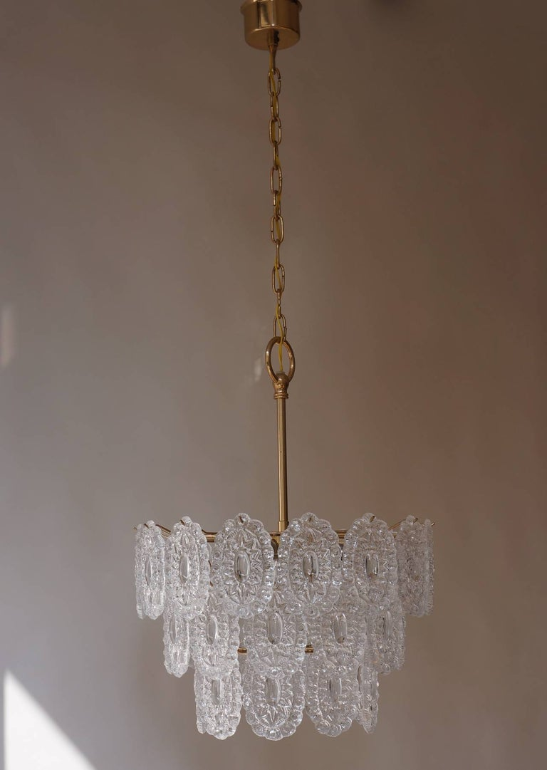 20th Century Two Doria Glass Chandeliers For Sale