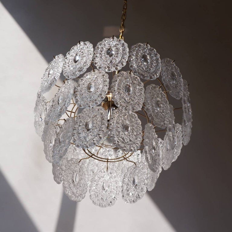 Two Doria Glass Chandeliers For Sale 1