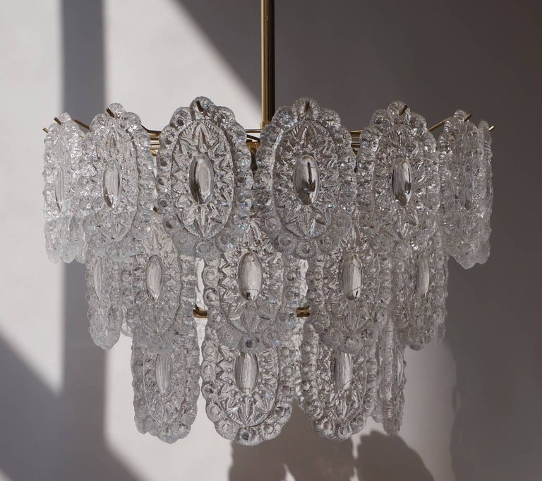 Two Doria Glass Chandeliers For Sale 2