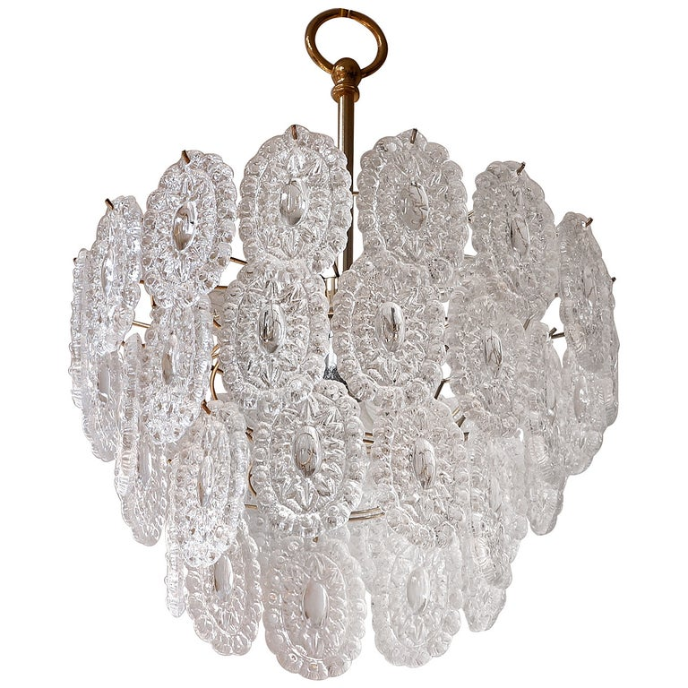 Two Doria Glass Chandeliers For Sale