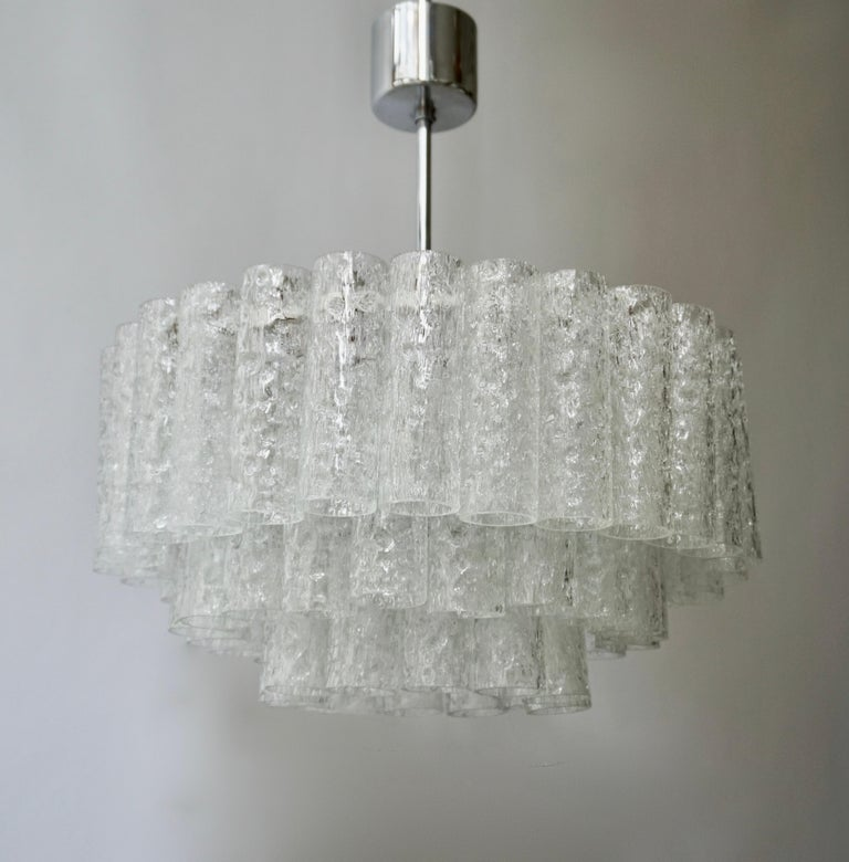 Doria Glass Tube Chandelier, 1960s, Germany For Sale 5