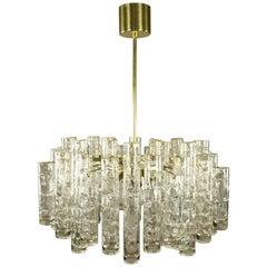 Doria Glass Tube Chandelier Pendant Lamp, 1960s, Mid-Century Modern