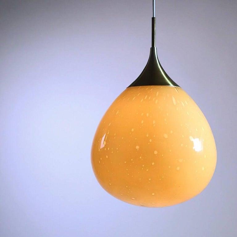 Mid-Century Modern Doria Leuchten Glass Ceiling Pendant, 1960s For Sale