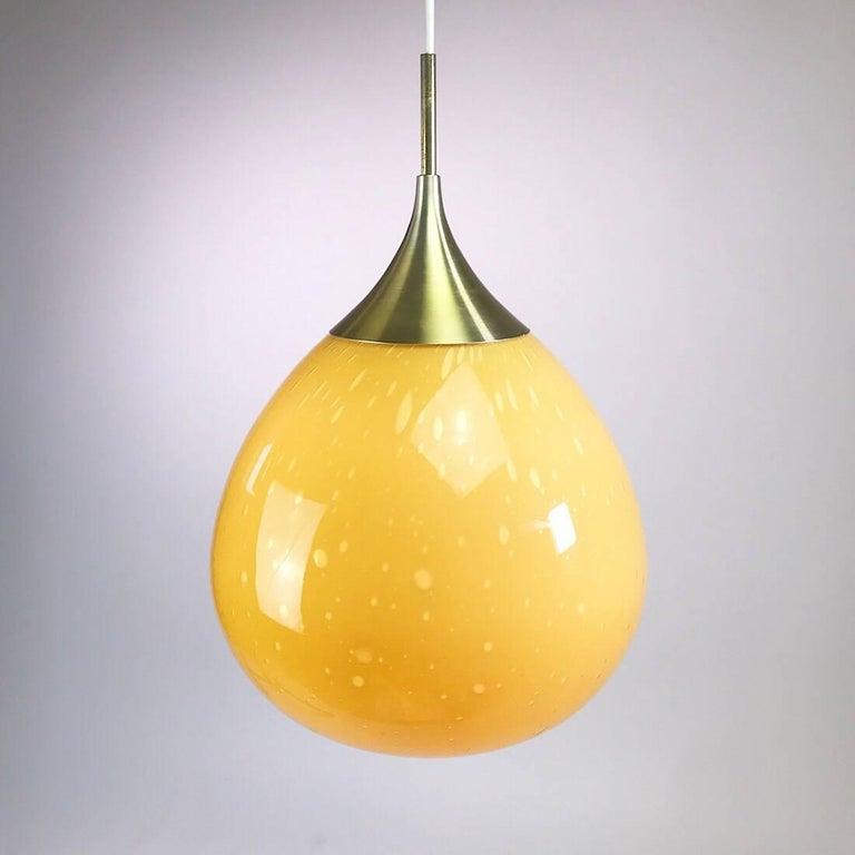 Mid-20th Century Doria Leuchten Glass Ceiling Pendant, 1960s For Sale