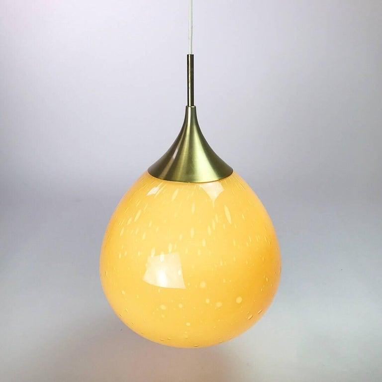 Doria Leuchten Glass Ceiling Pendant, 1960s For Sale 1