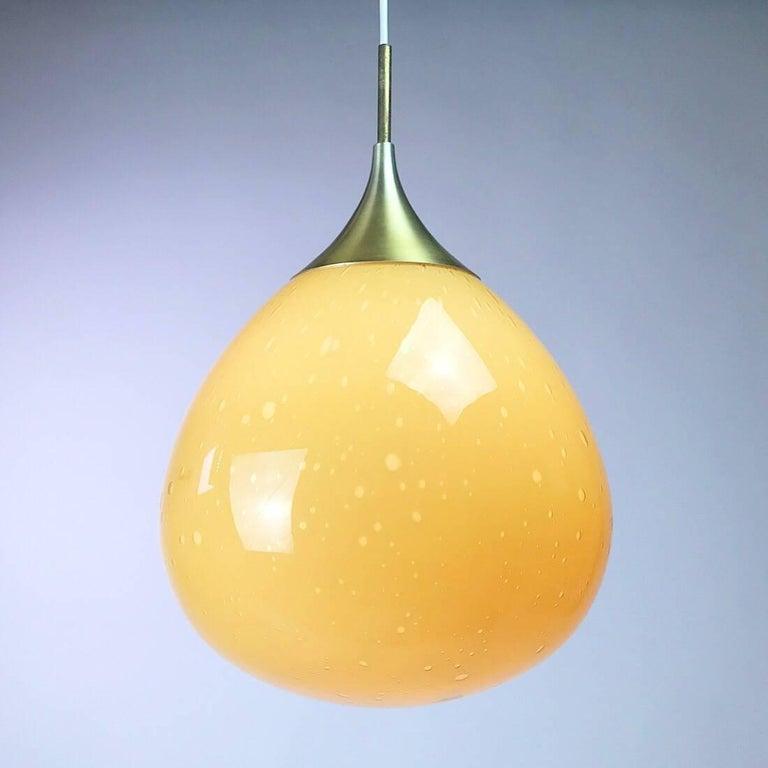 Doria Leuchten Glass Ceiling Pendant, 1960s For Sale 2
