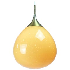 Doria Leuchten Glass Ceiling Pendant, 1960s